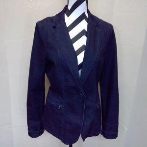 Calvin Klein Jeans 1 Button Denim Blazer EUC